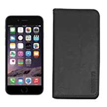 ROOTS 73 Premium Leather Hide Folio Case (Black) for iPhone 6S, iPhone 6