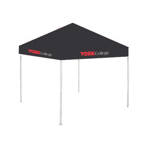York College 9 ft x 9 ft Black Tent 'Official Logo' by CollegeFanGear
