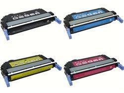 4-Pack HP CB400A, CB401A, CB402A, CB403A Compatible Toner Cartridge Set for Color LaserJet CP4005dn,, Office Central