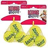 Image of KONG Air Dog Squeakair Dog Toy Tennis Balls, X-Small (6 Pack)