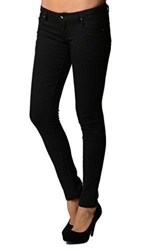 (Dinamit Juniors 5 Pocket Skinny Uniform Pant Black 7)