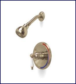 Brushed Nickel Bathroom Shower Faucet Set