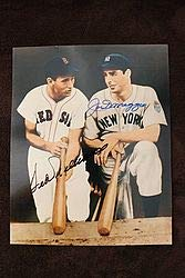 Autographed Signature 8x10 Color Photo Ted Williams Joe Dimaggio - JSA Certified