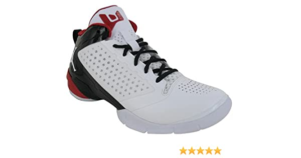 new concept 46880 06eee ... Amazon.com NIKE Jordan Fly Wade II 2 White Varsity Red Black Basketball  Shoes NB ...