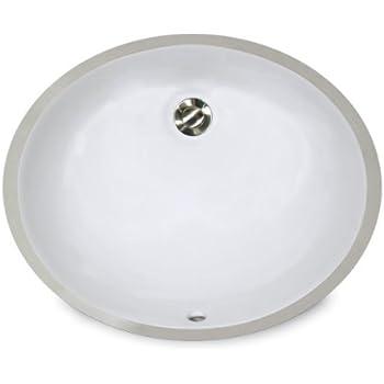 Nantucket Sinks UM 15x12 W 15 Inch By 12 Inch Oval Ceramic