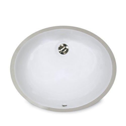 American Standard 0495.221.020 Ovalyn 17 Inch Basin Undercounter Bathroom  Sink, White 85