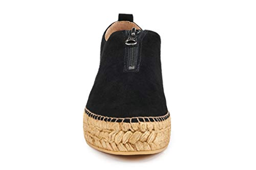 VISCATA Pals Leather and Suede Platform, Authentic and Original Spanish Made Espadrille Flats