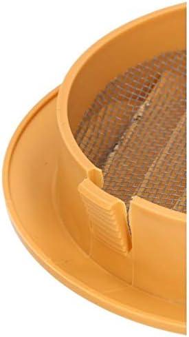 Beige KOTARBAU L/üftungsgitter 100 mm Rund Flansch 4 Farbe Bel/üftung Insektenschutzgitter Lamellengitter Bel/üftungsgitter Rohranschluss Abluftgitter Gitter