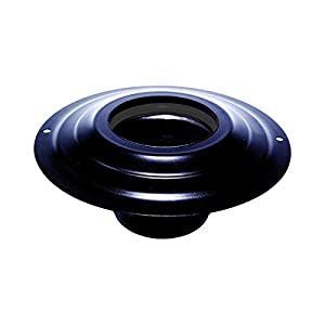 Rosone con tronchetto DN 80 mm d. esterno 230 mm. in acciaio inox verniciato nero per stufa a pellet o legna tubo nero… 2 spesavip