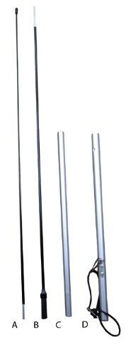 NEOPlex 8-Foot, 4-Piece, Graphite & Aluminum Flagpole for