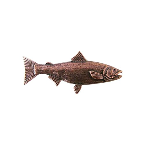 Cuivre ~ du Sud Fourchette rivière Salmon truite Arc-en-ciel ~ Pin's (épinglette/Broche ~ fc035