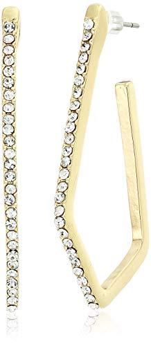 - Anne Klein Women's Gold Tone Post Geometric Hoop Earrings, Size: 0