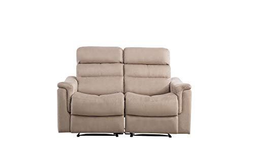 BONZY Manual Recliner Love Seat Recliner Chair for Living Room (Straight Row of 2,Gray)