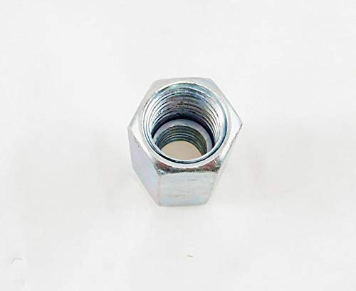 8 Pack 5/8-11 to 1/2-13 x 1 1/4'' Long Reducer Coupling Nut - Zinc Plate 509911
