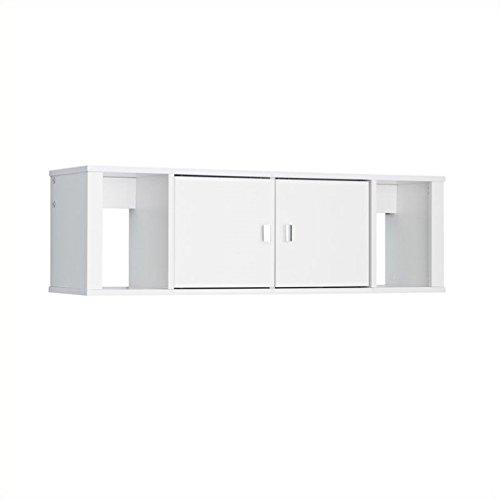 Atlin Designs Floating Hutch in Fresh White Finish