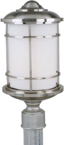 Feiss OL2207BS Lighthouse Outdoor Post Lighting, Satin Nickel, 1-Light (9