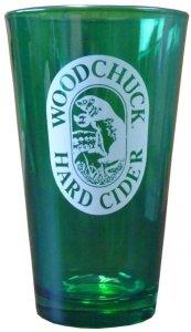 Woodchuck Cider (Woodchuck Signature Pint Glass - Green Died Glass)