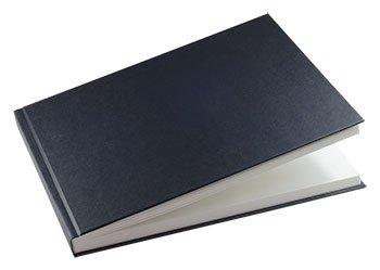 Black Cloth Case Bound Sketch Book A4 Landscape Seawhite
