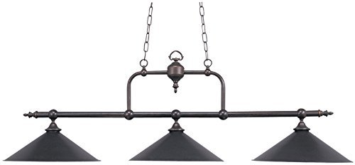 Landmark Tiffany Kitchen Island (ELK 191-TB, Designer Classics-Billiard-Island Large Linear Pendant, 3 Light, Tiffany Bronze by)
