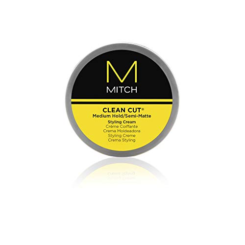 Mitch through Paul Mitchell Clean Cut Medium Hold/Semi-Matte Styling Cream for Men, 3 Ounce