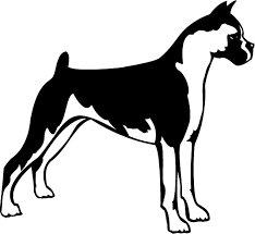 CCI Boxer Dog Standing Decal Vinyl Sticker|Cars Trucks Vans Walls Laptop| BLACK |5.5 x 5 ()