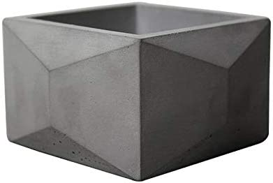 Flower Pot Silicone Mold Square with Polygonal Decoration Cement Pot Mould Concrete Planter Making Tools
