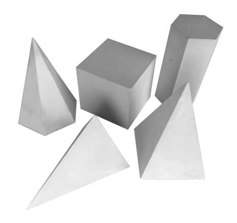 (Torino Art Studio Plaster Cast Shapes Teaching and Drawing,Painting, Sketching Aid Sculpture Set of 5 Shapes Set #3 (Set #3))