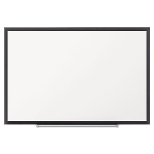 Quartet Premium DuraMax Porcelain Magnetic Whiteboard, 5' x 3', Black Aluminum Frame by Quartet