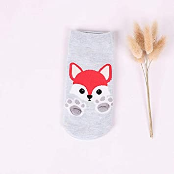 ZHANGJIANHUN Animal Calcetín Corto 3D Barco Gato Garras de Cartoon Cute Mujer Calcetines Fox Perro Tiger 4 Pares,Azul Cielo: Amazon.es: Deportes y aire ...