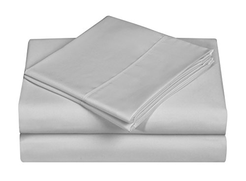 Soft Double Brushed 3-piece Microfiber Sheet Set. Beautiful Tropical Patterns, and Vibrant Solid Colors, Luxury, All-Season Bed Sheet Set - Grey, Twin ()