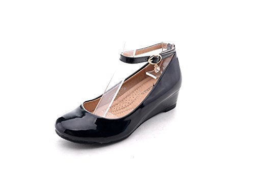 Pictures of Mila Girls Litte Girls Low Wedges Pumps Black 13 M US 1