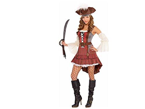 Castaway Fancy Dress Costume (Castaway Pirate Costume - Plus Size 2X - Dress Size 18-20)