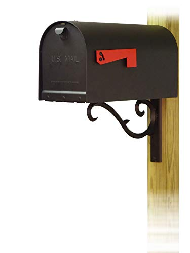 Special Lite Products Company Titan Steel Curbside Mailbox with Sorrento Front Single Mailbox mounting Bracket (Sorrento Post)
