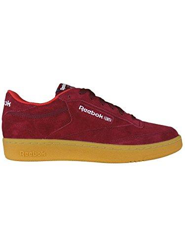 Bordeaux Sneakers Club Scamosciata Bordeaux C Reebok Ginnastica Scarpe Pelle Indoor Multicolore Da 85 qSw4WnzFHO