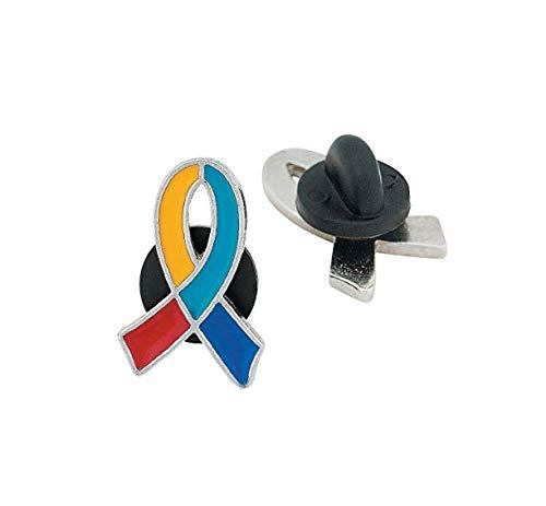 Pin Ribbon Awareness Autism - Autism Awareness Ribbon Lapel Pin