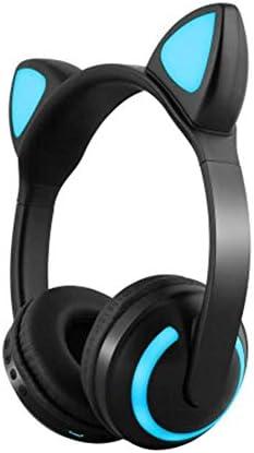 HNSYDS スイッチへの無料漫画の動物の耳のゲームヘッドセットヘッドマウントキュートな外観のユニークなカラフルなライト ゲーミングヘッドセット