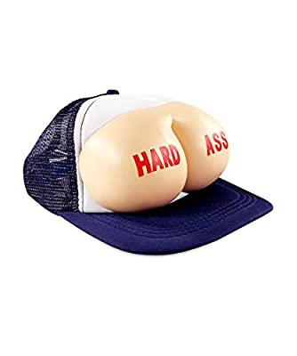 The Office Hard Ass Hat - The Office Merchandise - Memorabilia Inspired by The Office - Funny Trucker Hat Navy Blue