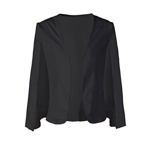 gilet ESAILQ manteau trench veste veste manteau lache cape cape court Noir Mme xffAq1FwY