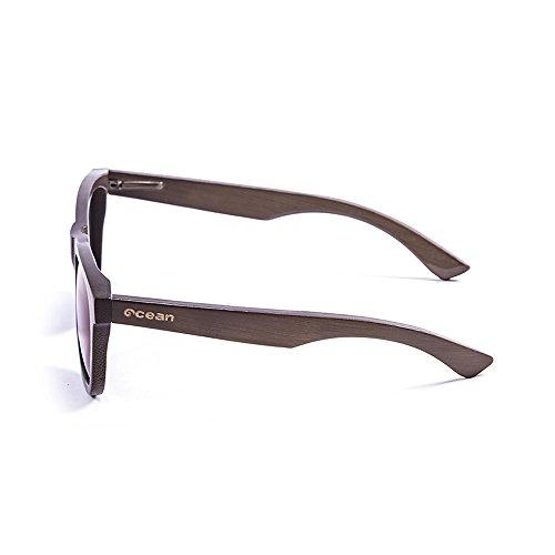 01 Victoria polarisées Marron lunettes Bambou soleil Ocean wood Fumée de 53003 Monture en Sunglasses Verres agqwqEF6