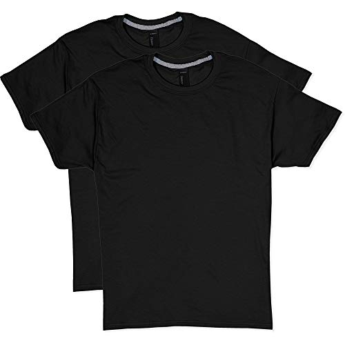 Hanes Men's 2 Pack X-Temp Performance T-Shirt, Black, Medium (Magnet T-shirt White)