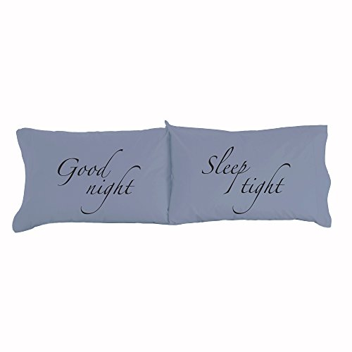Thermee Micro Flannel Novelty Pillow Case, Good Night, Sleep Tight, Standard/Queen