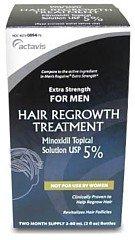 Extra Strength hommes Minoxidil repousse des cheveux traitement - Deux mois d'approvisionnement
