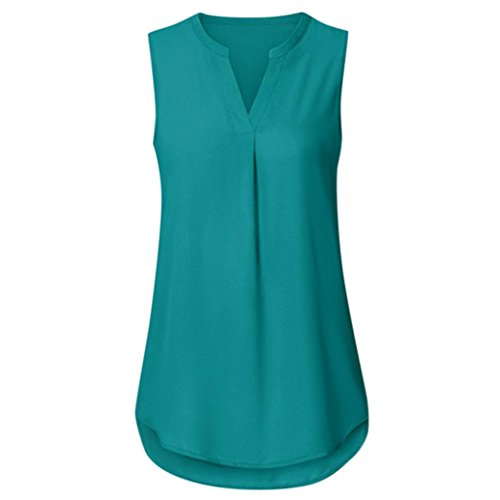 Clearance Sale! Wintialy Sexy Women Summer Loose V Neck Cami Tank Solid Tops Vest Blouse (Small, (Saris Skis)