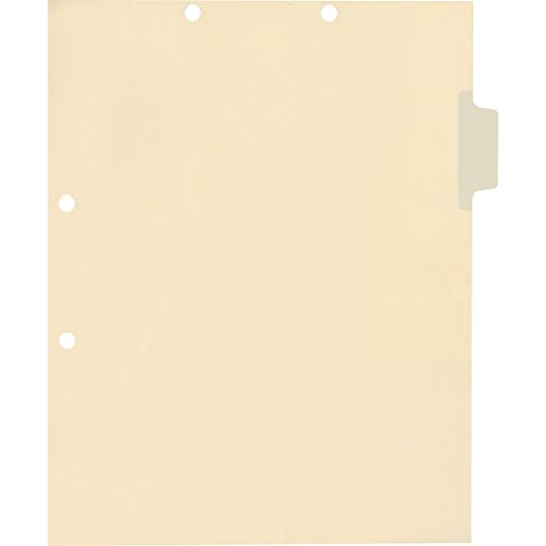 Medical Arts Press Match Write-On Side Tab Chart Dividers- Blank, Position 2 (100/Pkg) ()