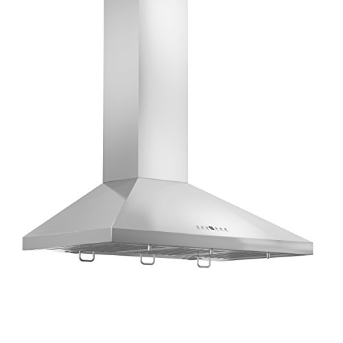 Z Line KL2CRN-36 Z Line 760 CFM Wall Mount Range Hood with Crown Molding, 36″, Stainless Steel