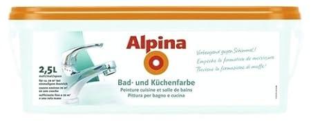 Alpina 2,5 L., Bad & Küchen Spezialfarbe, MINT, Wandfarbe, Vorbeugend gegen  Schimmel