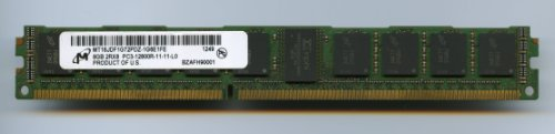 (MICRON MT18JDF1G72PDZ-1G6E1FE PC3-12800R / DDR3 1600 / 8GB ECC REG 2RX8 Very Low Profile (FOR SERVER ONLY))