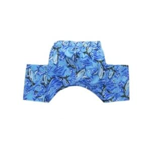 Pooch Outfitters Blue Shark Swim Trunks for Dogs (Small)