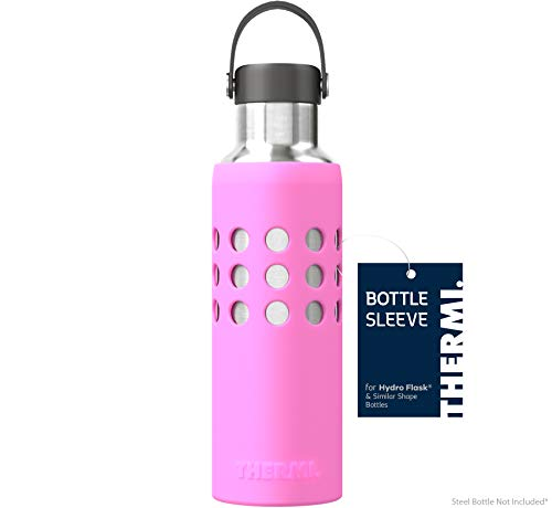 Thermi Protective Silicone Sleeve for Hydro Flask Water Bottles (Classic Pink, 21oz)