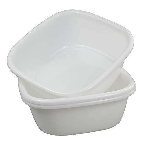 (Jekiyo White Wash Basin, Small Plastic Tubs, 8 Quart / 3 Packs)